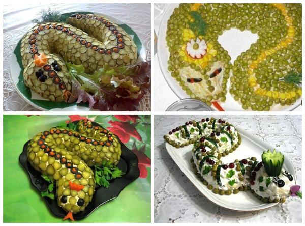今、それは時間がないようですが、予約はありません。今すぐヘビの年はやってくるでしょう、そしてあなたはすでにお祝いサラダの準備ができています!