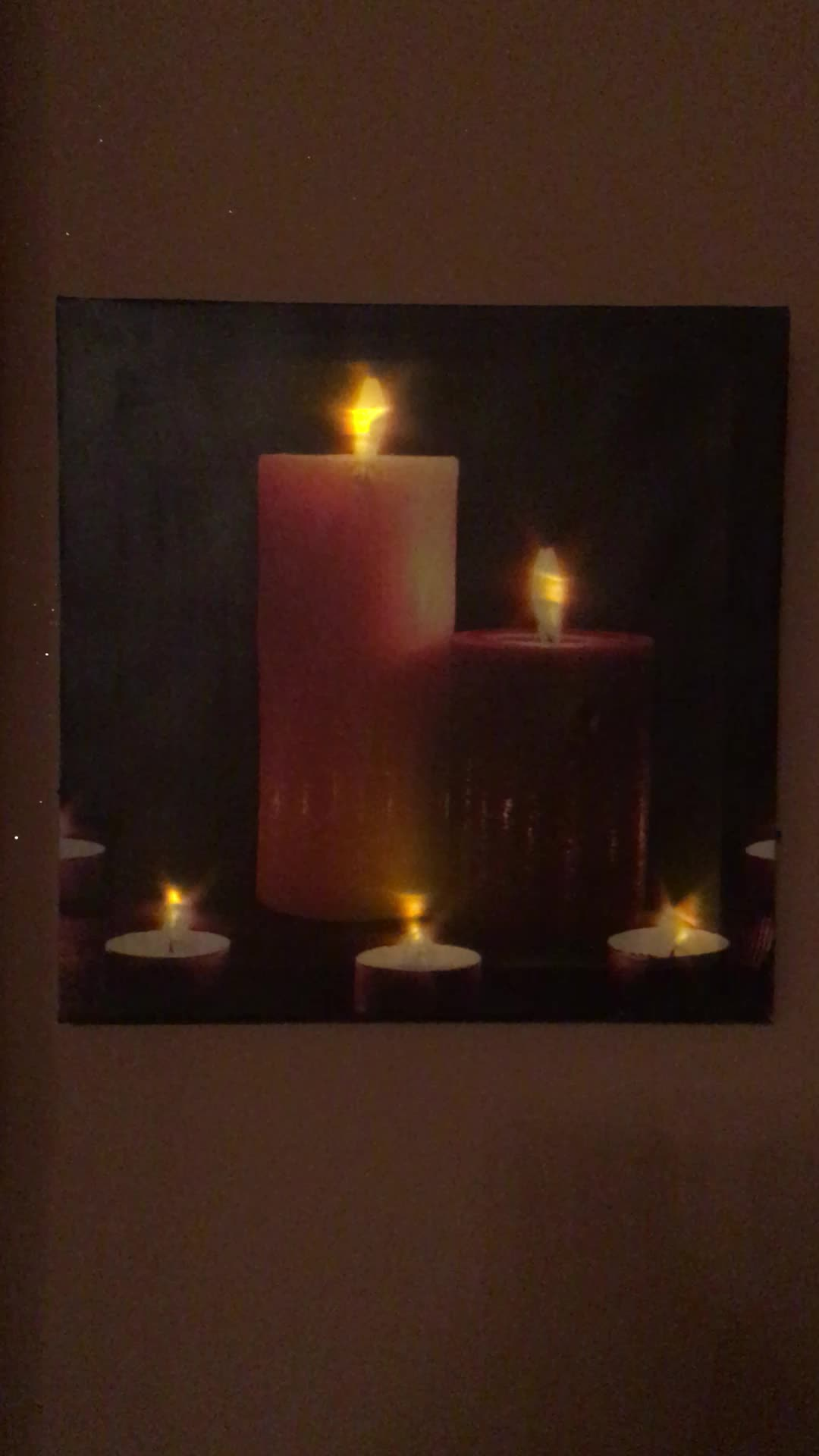 Flickering Lights Canvas Art