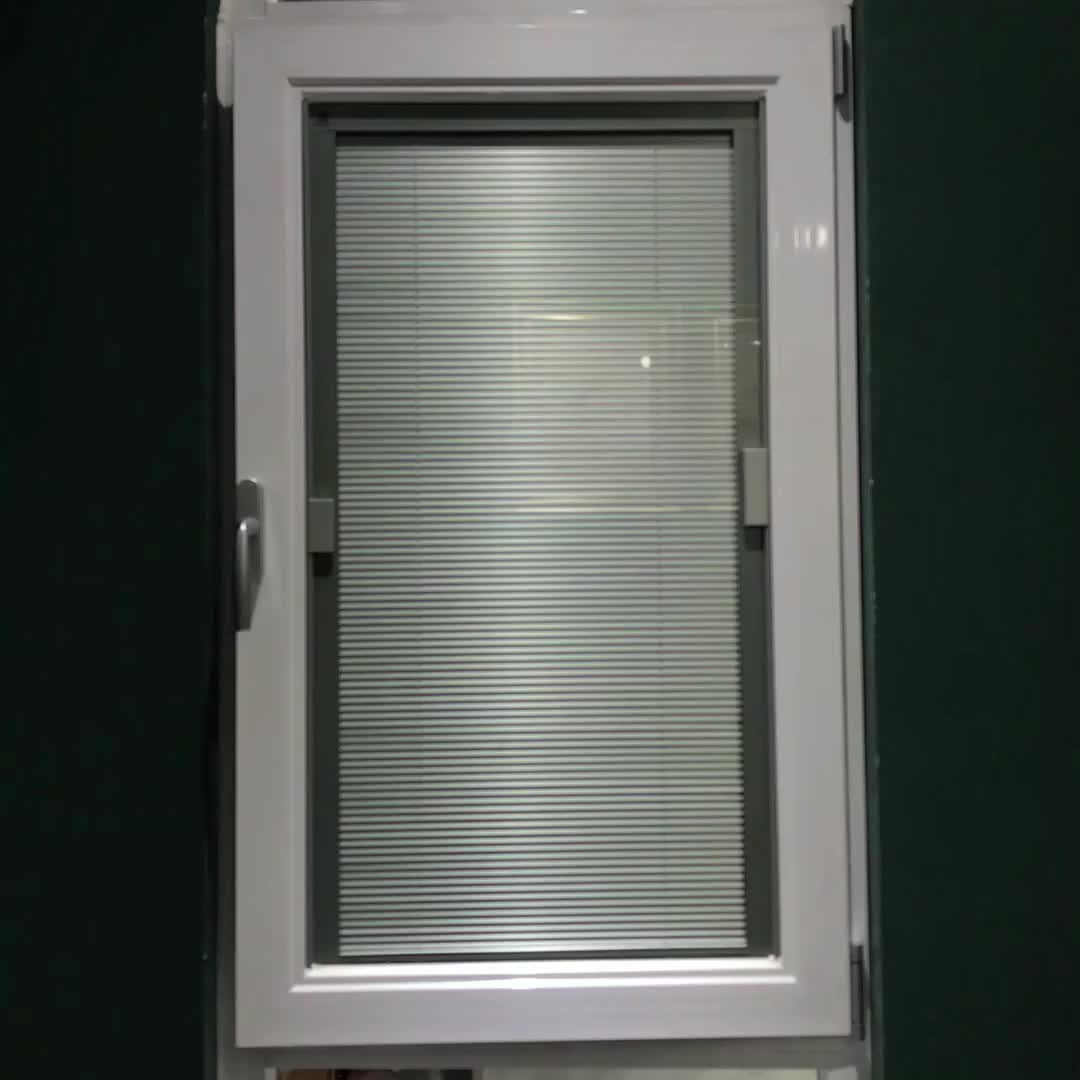 Aluminum Casement Window With Built In Blinds Swing Out