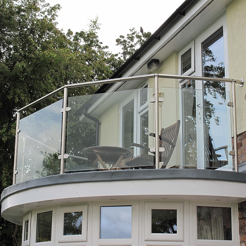 Usd 46 65 Glass Staircase Railings Stainless Steel Stairs Round | Stainless Steel Handrail With Glass | Balustrade | Steel Railing | Price | Aged Polished Steel | Wood