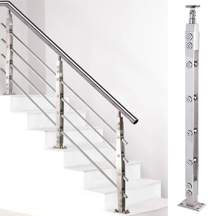 Usd 6 52 Stair Handrail 304 Stainless Steel Column Lasied Pvc | Modern Stainless Steel Staircase Railing | Modular Steel | Hand | Crystal Handrail | Contemporary | Exterior