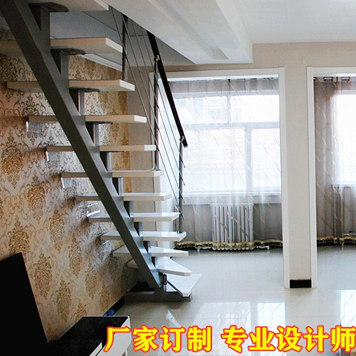 Usd 40 18 Loft Staircase Modern Minimalist Duplex Villa Living   Steel And Wood Staircase   Steel Cable   Construction   Beautiful   New Model   Detail