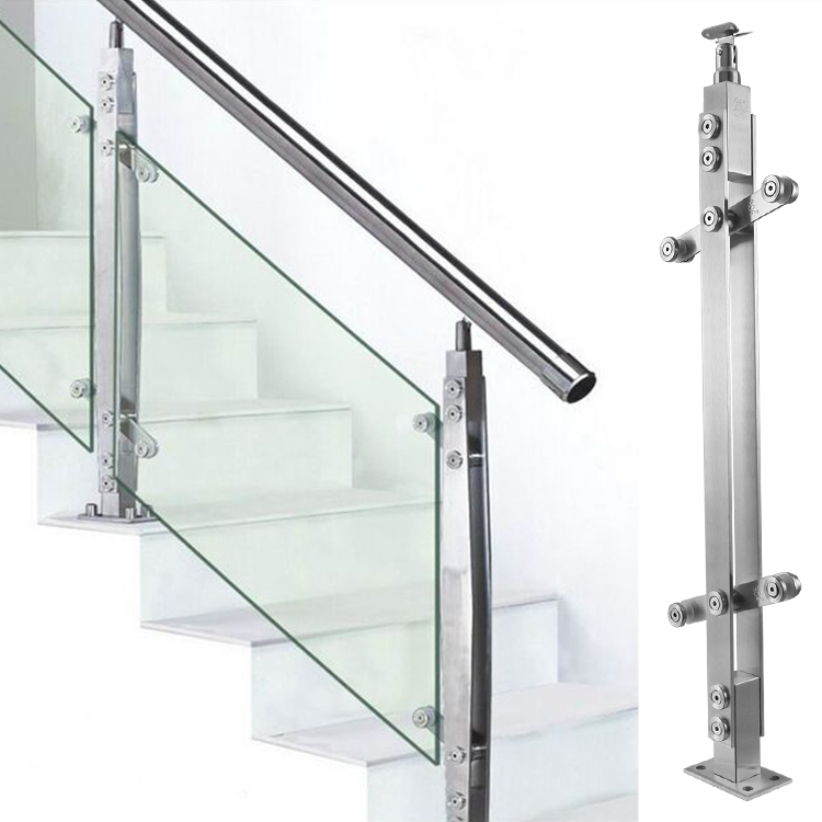 Usd 36 29 304 Stainless Steel Stair Railing Stomp Glass Balcony | Staircase Railing With Glass | Low Cost | Cost | Residential | Pinterest | Spiral