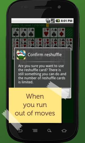 Android FreeCell Solitaire Champion Screen 1