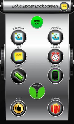 Android Lotus Zipper Lock Screen Screen 5