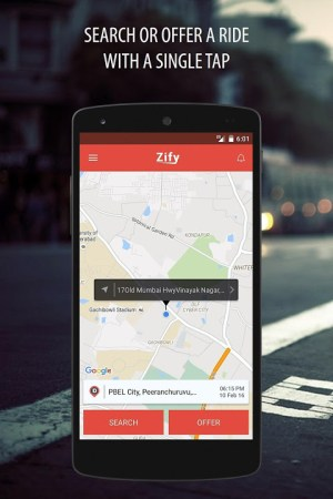 Android Zify - Safe & Flexible Carpool Screen 6