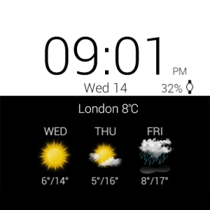 Android Transparent clock weather Pro Screen 6