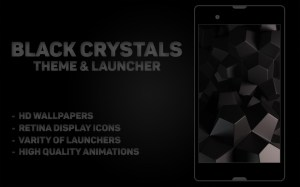 Android Black Crystal Theme & Launcher Screen 1