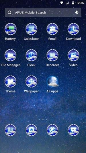 Android Night Scene Theme Screen 1