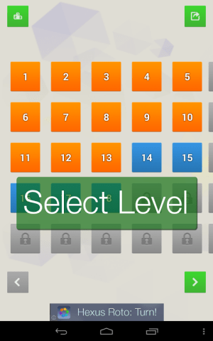 Android Hexus Puzzles Screen 1