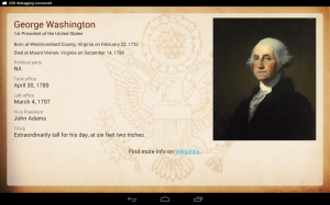 Android U.S. Presidents Screen 1