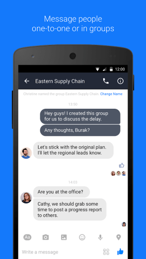 Android Work Chat by Facebook Screen 3