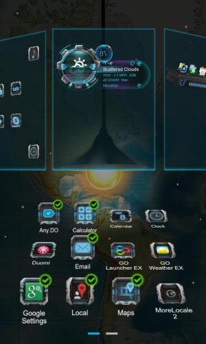Android Next magic light livewallpaper Screen 2
