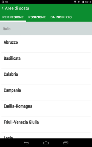 Android Camperlife, camperstops, Screen 7