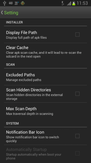 Android Easy Installer - Apps On SD Screen 5