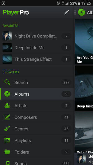 Android PlayerPro Music Player Screen 3