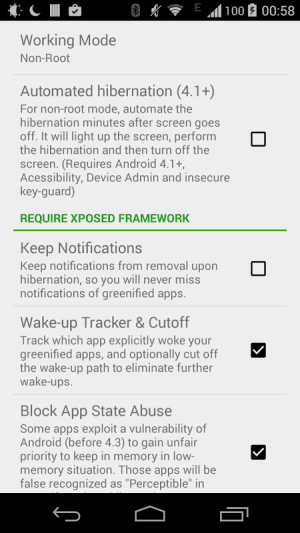 Android Greenify Screen 2