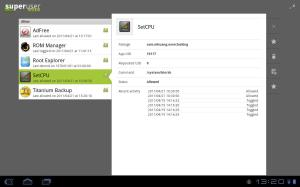 Android Superuser Screen 1