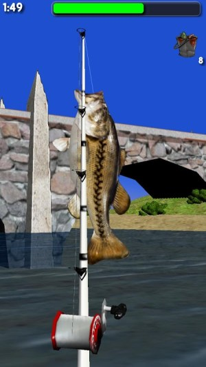 Android Big River Fishing 3D Screen 3