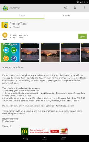 Android AppBrain App Markt Screen 4