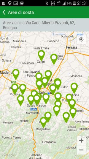 Android Camperlife, camperstops, Screen 1