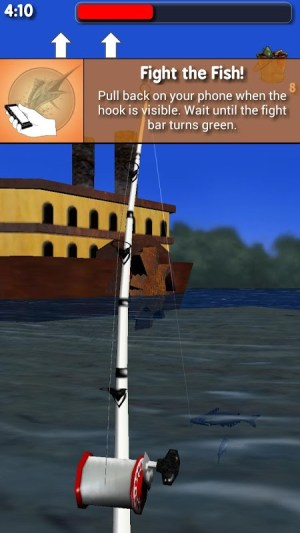 Android Big River Fishing 3D Screen 2