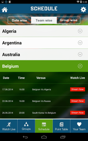 Android Live Football World Cup 2014 Screen 7
