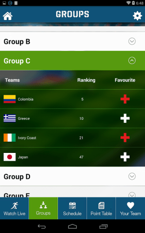 Android Live Football World Cup 2014 Screen 6