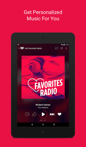 Android iHeartRadio Free Music & Radio Screen 4