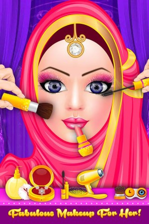 Android Hijab Fashion Doll Dress Up Screen 12