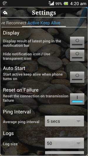 Android Connection Stabilizer Booster Screen 10