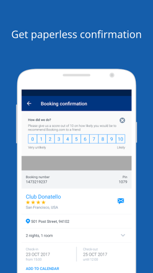 Android Booking.com Hotel Reservations Screen 12