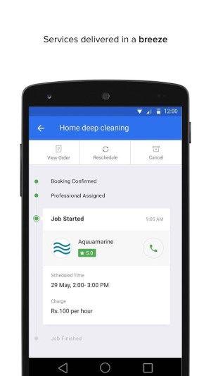 Android UrbanClap - Local Services Screen 1