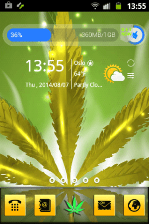 Android Weed Reggae HD GO Launcher Screen 7