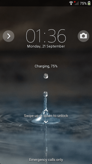 Android Blue Water Screen 3