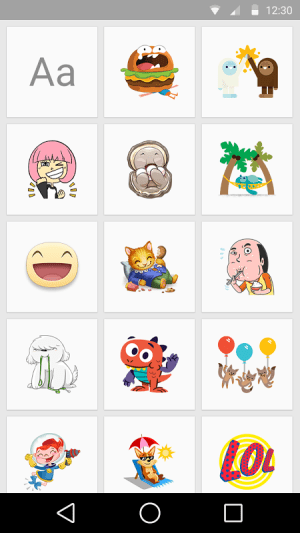 Android Stickered for Messenger Screen 1