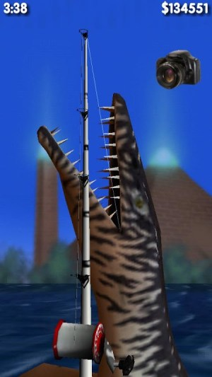 Android Big Dino Fishing 3D Screen 1