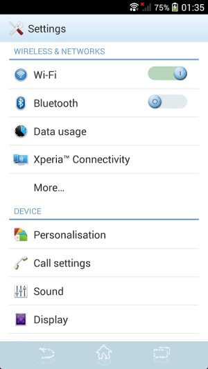 Android Blue Water Screen 8