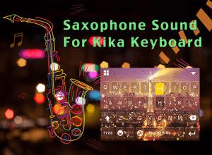 Android Saxophone for Kika Keyboard Screen 1