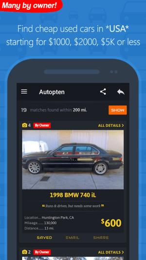 Android com.autopten.cheapcarsforsale Screen 22
