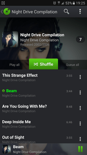 Android PlayerPro Music Player Screen 4