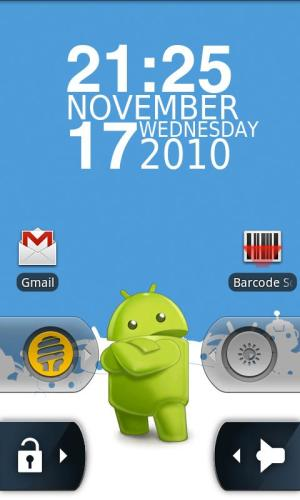 Android WidgetLocker Lockscreen Screen 3