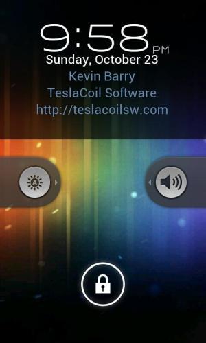 Android WidgetLocker Lockscreen Screen 1