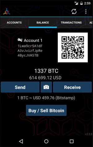 Android Mycelium Bitcoin Wallet Screen 10