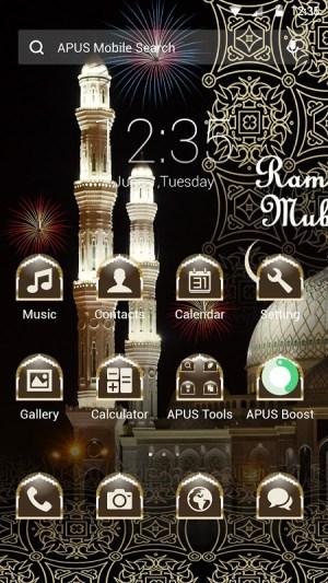 Android Taj Mahal Theme Screen 2