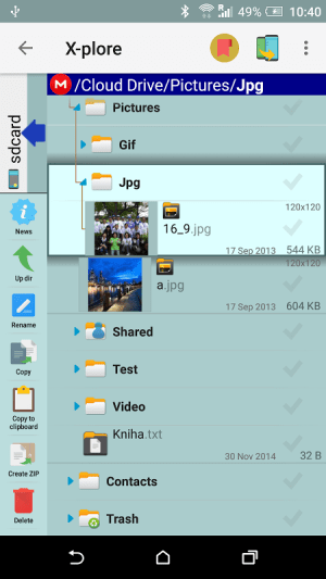 Android X-plore File Manager Screen 3