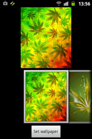 Android Weed Reggae HD GO Launcher Screen 3