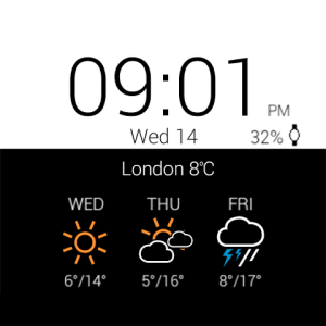 Android Transparent clock weather Pro Screen 5