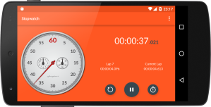 Android Chronometer Screen 2