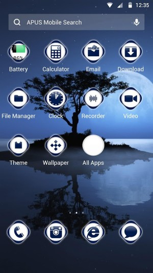 Android Quite and deep Theme Screen 1